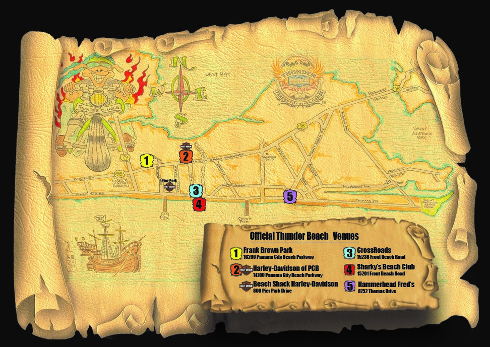 , Thunder Beach Rally Map