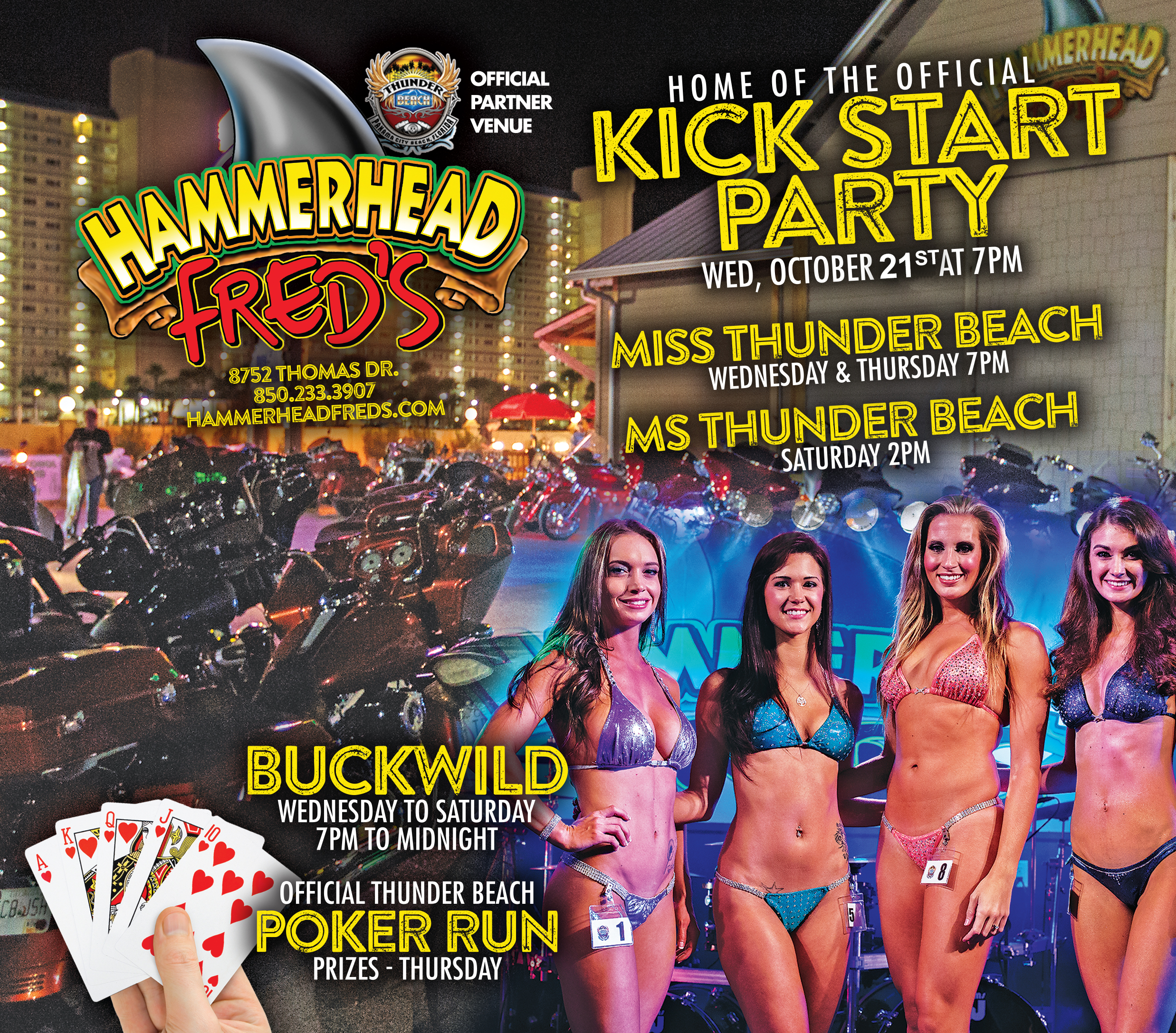 Hammerhead Freds Kick-Start Party